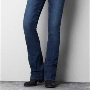 0 American Eagle Kick Boot Stretch Dark Wash Jeans
